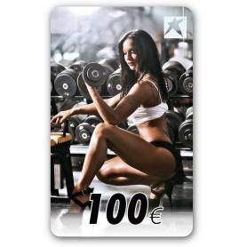 CARTE-CADEAU AVEC MOTIF FEMME 100 EUR