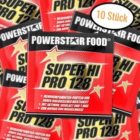 SUPER HI PRO 128 - Mehrkomponenten Protein Pulver - 10 x 30 g Probe Beutel