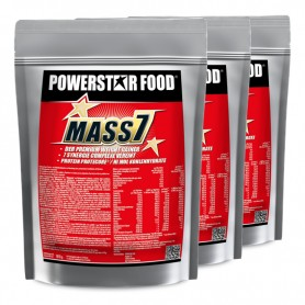 MASS 7 - Premium Weight Gainer für Softgainer - 3 x 1610 g