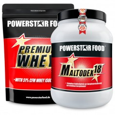 PACK D'INSULINE. MALTODEX 18 & PREMIUM WHEY - Powerstar Food