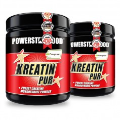 KREATIN PUR - Creatin Monohydrat Pulver - 2 x 500 g