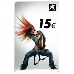 CARTE-CADEAU AVEC MOTIF FEMME 15 EUR
