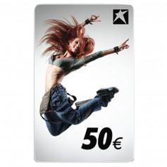 CARTE-CADEAU AVEC MOTIF FEMME 50 EUR