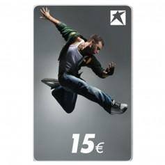 CARTE-CADEAU AVEC MOTIF HOMME 15 EUR