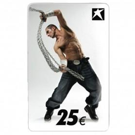 CARTE-CADEAU AVEC MOTIF HOMME 25 EUR